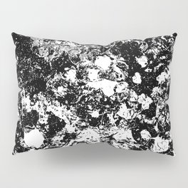 Bad Memories - black and white abstract painting Pillow Sham