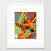 berserk Framed Art Prints featuring Berserk by Pascal Blanché