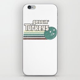 Gettin' Turkeys Funny Graphic Bowling Strikes iPhone Skin