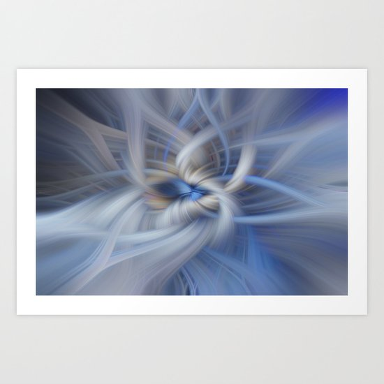 Abstract in blues Art Print