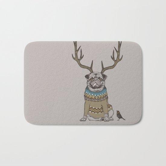 Deer Pug Bath Mat