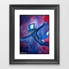 Dandy Fox and the Astral Plane Framed Art Print