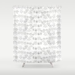owl pattern Shower Curtain