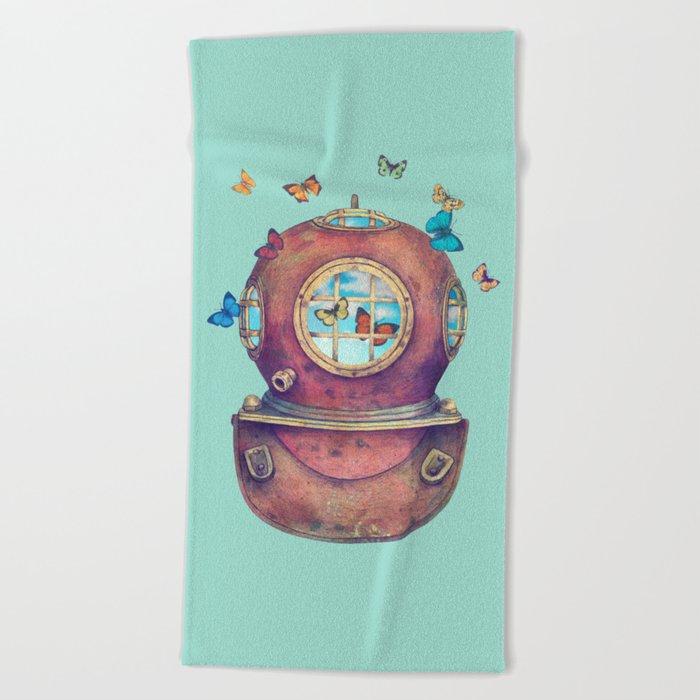 Inner Space Beach Towel