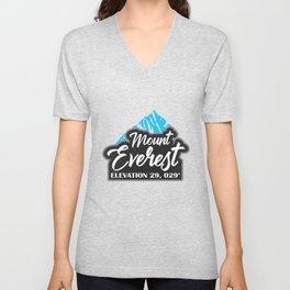 Mount Everest Hiker Gift Mountaineer Climber Unisex V-Neck