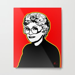 Estelle Getty | Pop Art Metal Print