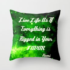 Everything Is Rigged - Rumi Throw Pillow