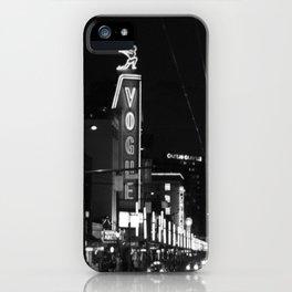 Granville St after dark 3 iPhone Case