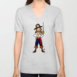 Pirate Girl Unisex V-Neck
