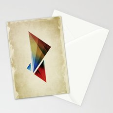 Triangularity Means We Dream in Geometric Colors Stationery Cards