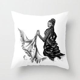 Soiled Linens Throw Pillow