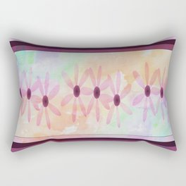 pink flower pattern Rectangular Pillow