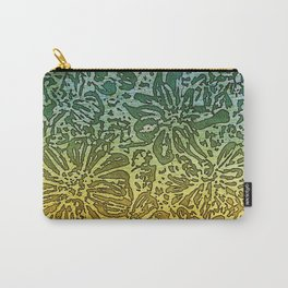Marigold Lino Cut, Gradient Carry-All Pouch