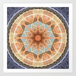 Mandalas of Forgiveness & Release 24 Art Print