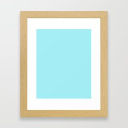 Light blue solid Framed Art Print