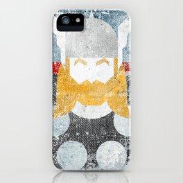 God of thunder grunge superhero iPhone Case