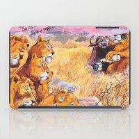 vegetarian iPad Cases featuring vegetarian lion by Rose Rigden