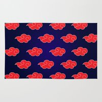 suit Area & Throw Rugs featuring Akatsuki Suit by bimorecreative