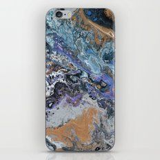Molten Time (flow art on canvas) iPhone Skin