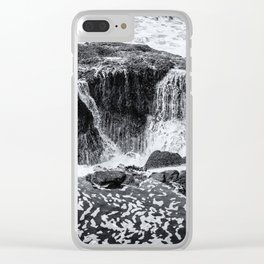 Thor's Well, No. 3 bw Clear iPhone Case