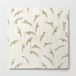 Crickets in a field Metal Print