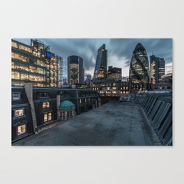 London on the roofs Canvas Print