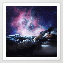 asleep but not dreaming Art Print