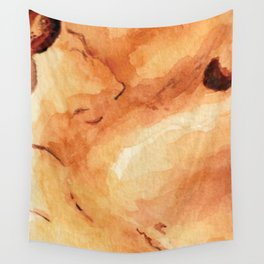 Amber Crystal Watercolor Wall Tapestry