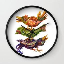 Three Birds Totem Wall Clock
