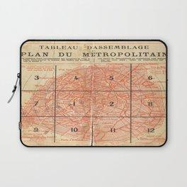 Vintage Paris City Centre Map Laptop Sleeve