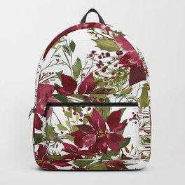 Poinsettia Flowers Backpack
