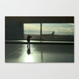 Alone in the airport. Canvas Print
