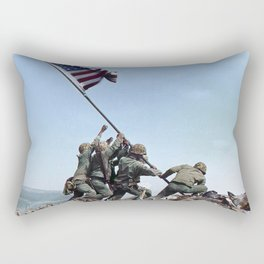Iwo Jima Color Rectangular Pillow