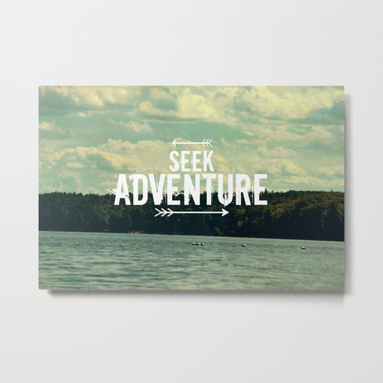 Seek Adventure Metal Print
