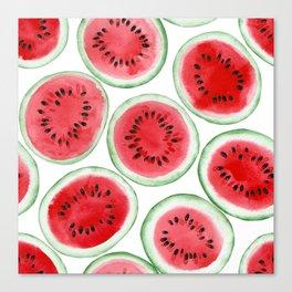 Watermelon slices pattern Canvas Print