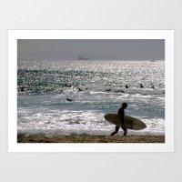 Pasión por el mar Art Print