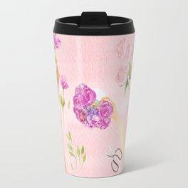 Flower Arranging Watercolor Painting Travel Mug