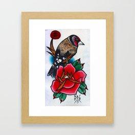Gold Finch Framed Art Print