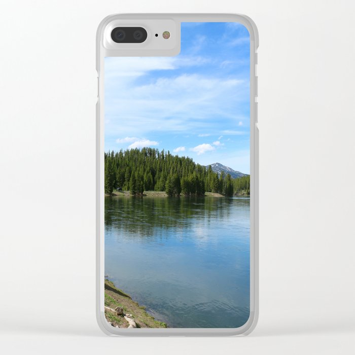Serene Yellowstone River Clear iPhone Case