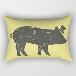 Piggy Bank Rectangular Pillow