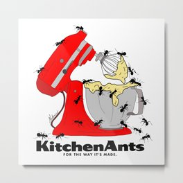 Kitchen Ants Metal Print