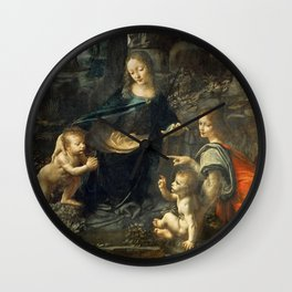 "Leonardo da Vinci ""The Virgin of the Rocks"" (Louvre) Wall Clock"