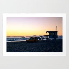 LA Lifeguards Art Print