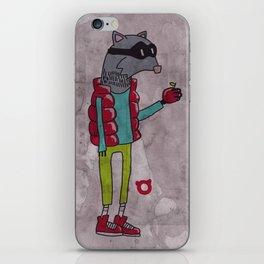 006_raccoon iPhone Skin