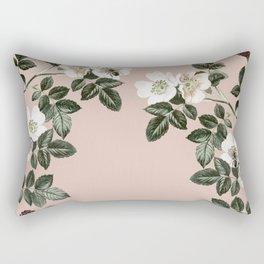 Bee Blackberry Bramble Coral Pink Rectangular Pillow