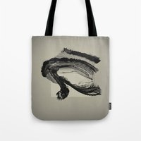 letter Tote Bags featuring love letter by PandaGunda