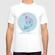 Bass Jumping1 Mens Fitted Tee MEDIUM White