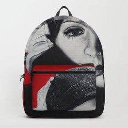 Greta Garbo v červené Backpack
