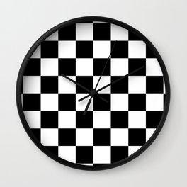 Check (Black & White Pattern) Wall Clock