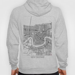 New Orleans Map White Hoody
